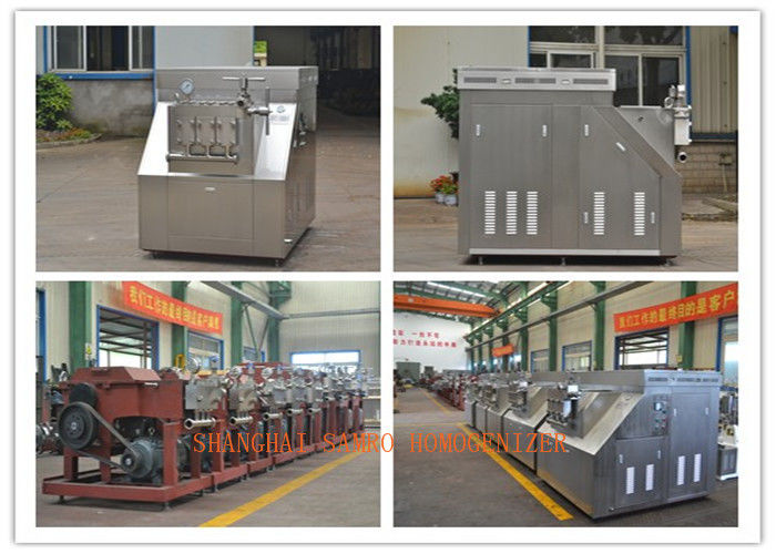 Pneumatic type Food Homogenizer Machine , High Pressure Homogenization Equipment